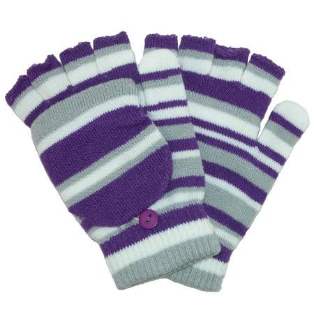 Xcr Womens Mitten - Grand Sierra  Women's Striped Convertible Mitten to Glove