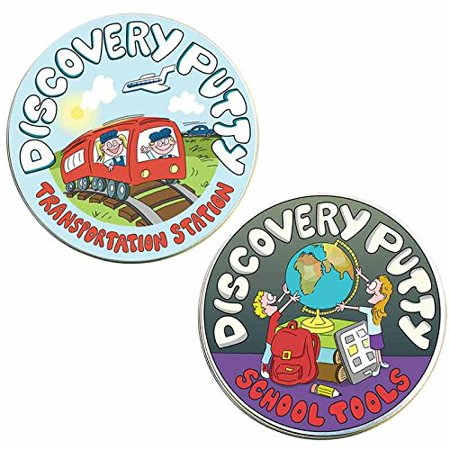 Discovery Putty - Set of School Tools and Transportation (School Tools)