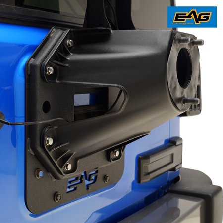 EAG Spare Tire Relocation Bracket - fits 07-18 Jeep Wrangler (Best Jeep Jk Spark Plug Wires)