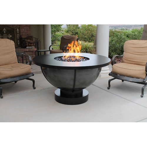 CC Products Bodaway Steel Natural Gas Firepit Table by