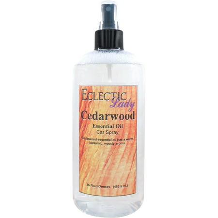 Cedarwood Essential Oil Car Spray, 16 ounces