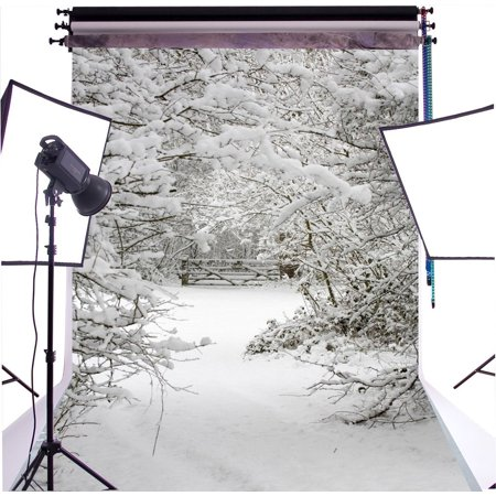 GreenDecor Polyster 5X7ft Christmas Winter Snow Photograghy Backdrop Photo Background Photo studio - Winter Photo Props