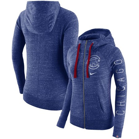 Chicago Cubs Nike Women's Vintage Full-Zip Hoodie - Royal