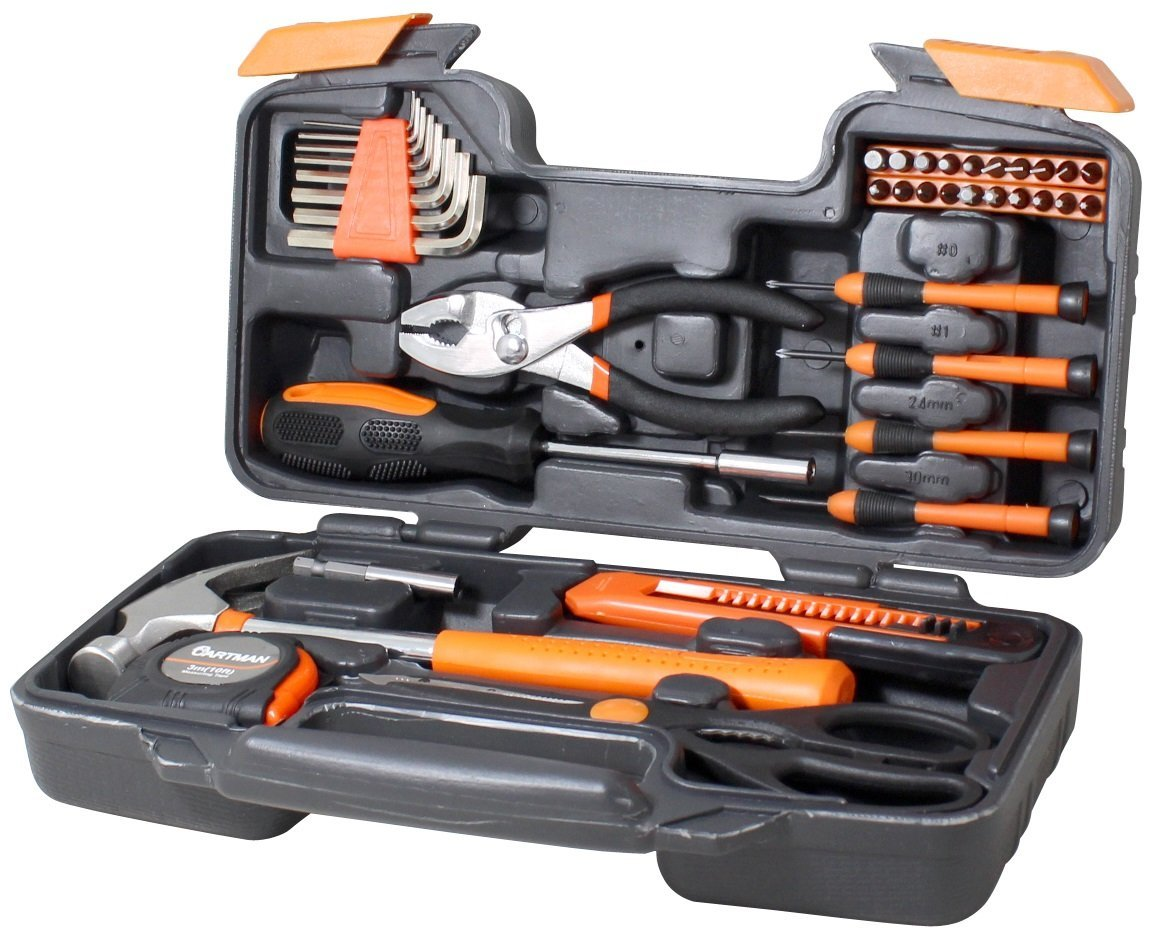 Cartman Orange 39-Piece Tool Set General Household Hand Tool Kit with Plastic Toolbox... by LIVEDITOR LIGHTING