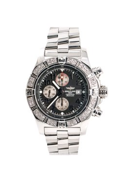 Pre-Owned Breitling Super Avenger A13370 Steel  Watch (Certified Authentic & Warranty)