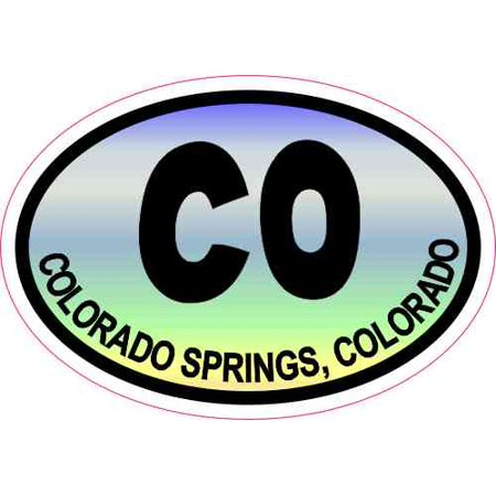 3X2 Colorful Oval CO Colorado Springs Sticker Vinyl Travel Decal Cup Stickers
