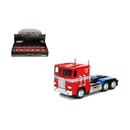 JADA 1:32 DISPLAY - METALS - HOLLYWOOD RIDES - TRANSFORMERS - G1 OPTIMUS PRIME (RED) 1 ITEM WITHOUT RETAIL BOX 30875-DP1 - Transformers Items