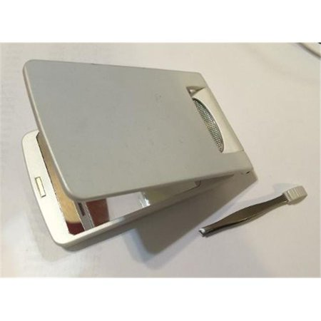 Rucci Cm863 Led Lighted Compact Mirror With Tweezer