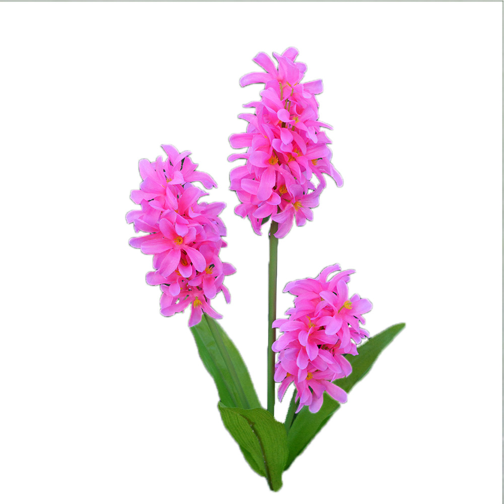 Solar Powered Hyacinth Flower Garden Light,Outdoor Decorative 3 LED Solar Path Flower Lights