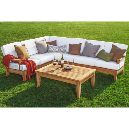 WholesaleTeak Outdoor Patio Grade-A Teak Wood Atnas 5 Piece Teak ...