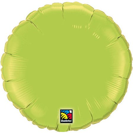 Lime Green Round Plain 18
