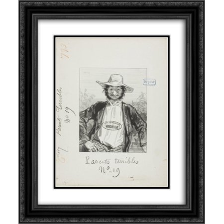 Paul Gavarni 2x Matted 20x24 Black Ornate Framed Art Print \'Les ...