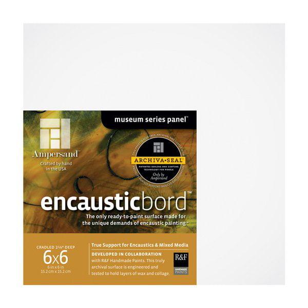 "Ampersand Encausticbord 2-1/8"" Cradled Panel 6x6"""