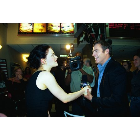 Anna Paquin Being Interviewed By Joaquin Phoenix At Premiere Of Buffalo Soldiers Ny 7212003 By Janet Mayer Celebrity