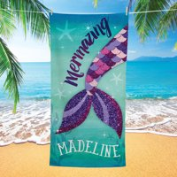 Personalized Mermazing Kids Beach Towel