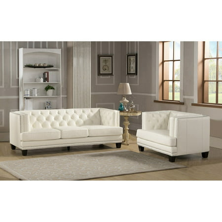 Amax newport 2 piece leather living room set 2 piece leather living room set