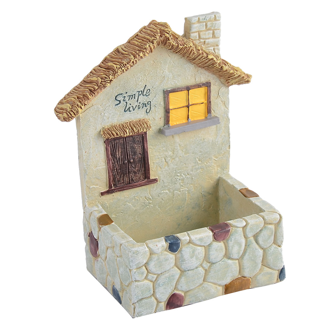 Indoors Outdoors House-shaped Gift Ornament Plants Flower Pot