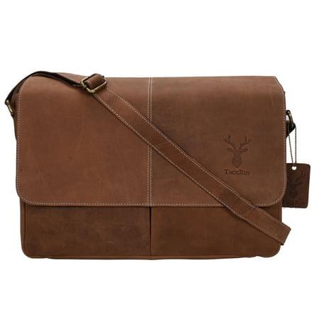 Genuine Leather Expandable Portfolio Messenger Shoulder Bag Brief Case 18MB222