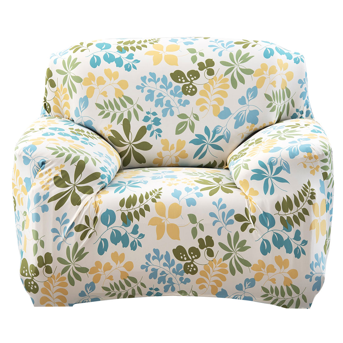 Unique Bargains Stretch 1 Seat Flower Pattern Hawaii Style Sofa Cover  Slipcovers Couch Protector Mult