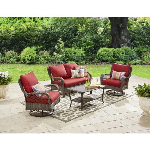 Better Homes and Gardens Colebrook 4 Piece Outdoor Conversation Set