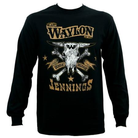 California Dreamin T-shirt (Waylon Jennings Men's Drinkin and Dreamin Brown Logo Long Sleeve)