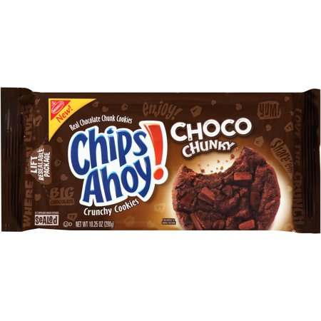 (2 Pack) Nabisco Chips Ahoy! Choco Chunky Chocolate Chunk Cookies, 10.25 (Oatmeal Chocolate Chunk)