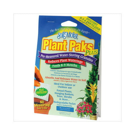 Image of Soil Moist Water Reducing Plant Paks with Fertilizer 6pc