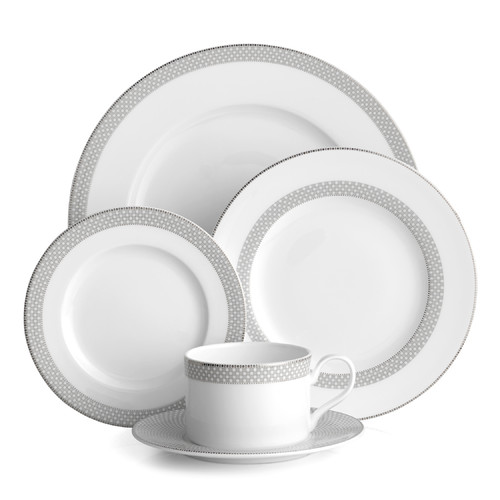 Auratic Inc. Bissette 5 Piece Place Setting by Auratic Inc.