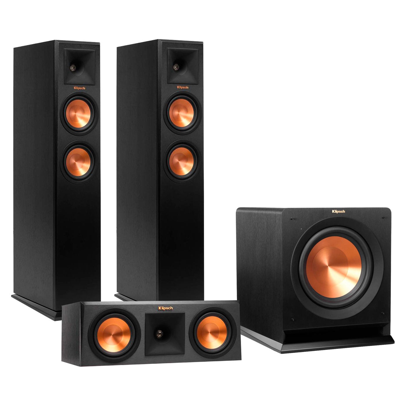"Klipsch RP-250F Reference Premiere Floorstanding Speaker Package with RP-250C Center Channel Speaker and R110 10""... by Klipsch"
