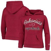 Girls Youth Russell Athletic Heathered Cardinal Arkansas Razorbacks Classic Fleece Pullover Hoodie