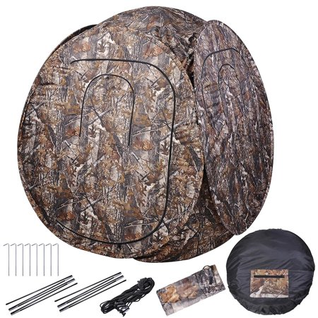 "60""x60""x68"" Pro Hunting Blind Tent 300D Polyester Fibre w/ Carrying Case Outdoor Sport View thumbnail"