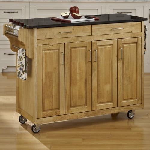 Styles create a cart kitchen island with granite top walmart com
