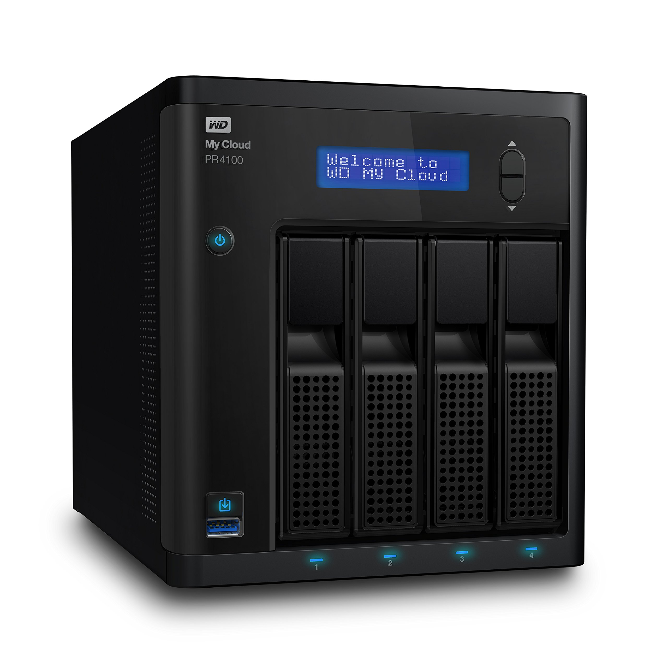 Click here to buy Wd 32tb My Cloud Pr4100 Pro Series Media Server With Transcoding, Nas Network Attached Storage Intel Pentium N3710... by Western Digital.