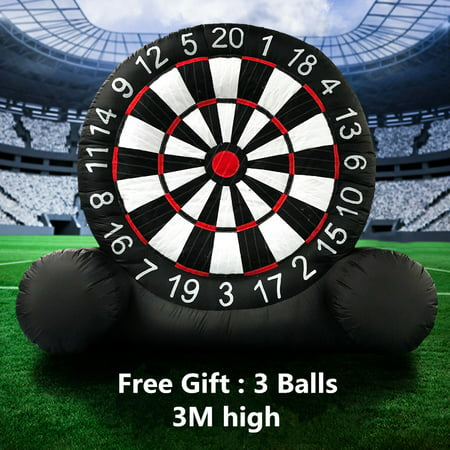 3 Meter High Huge Game Soccer Inflatable Football Dart Board With 110V Air Blower ()