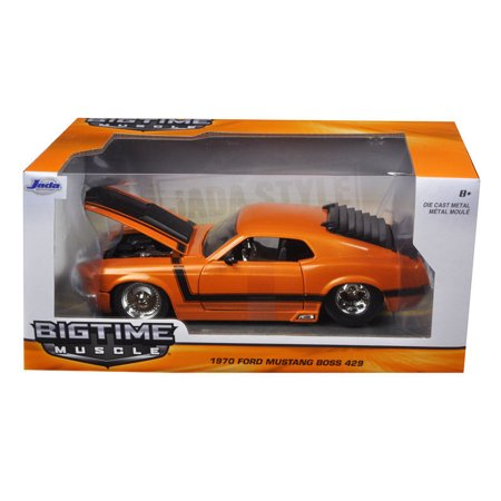 JADA 1:24 W/B BIG TIME MUSCLE - 1970 FORD MUSTANG BOSS 429 98030-MJ 18 1970 Ford Mustang Boss