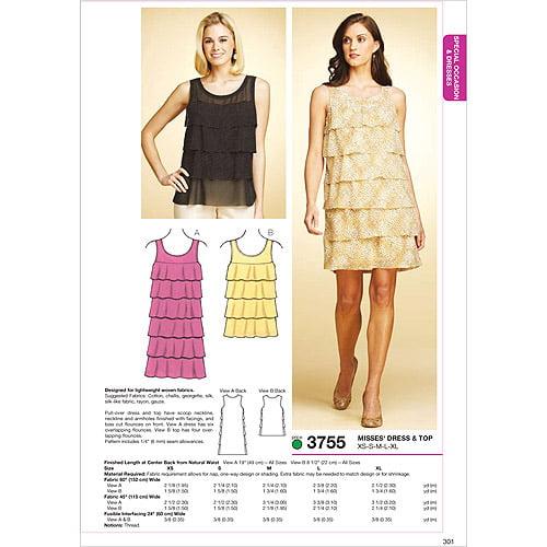 Kwik Sew Pattern Dress and Top, (XS, S, M, L, XL)