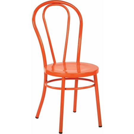 Pastel Painted Chair (Odessa Metal Dining Chair with Backrest, 2-Pack )