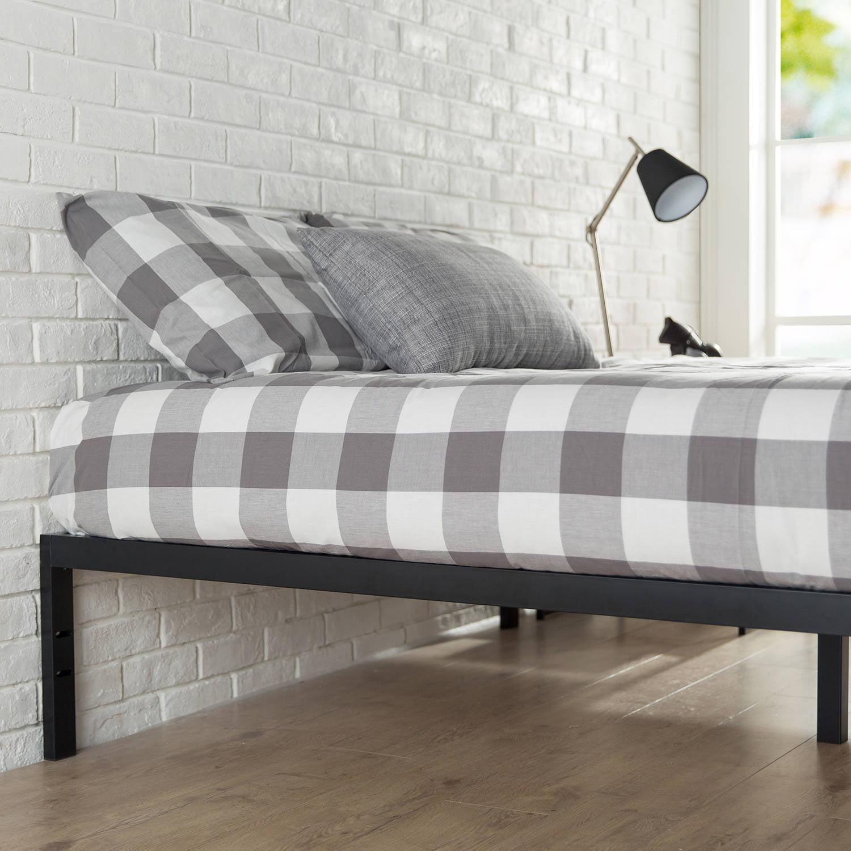 platform bed full size kids bedroom frame furniture no headboard modern slats ebay. Black Bedroom Furniture Sets. Home Design Ideas