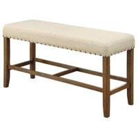 Bowery Hill Counter Height Dining Bench in Beige