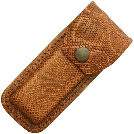 Leather Belt Sheath Python