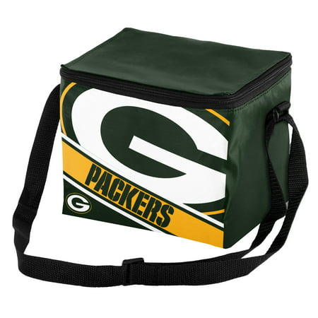 Forever Collectibles Green Bay Packers Logo Stripe 6pk Cooler