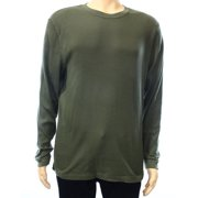 Club Room NEW Green Olive Mens Size XL Thermal Solid Crewneck Tee T-Shirt $39
