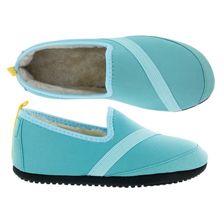 d3cb95d330fc7 FITKICKS - KoziKicks Active No-Slip Slippers with Rubber Sole & Fur ...