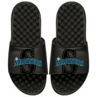 Seattle Mariners ISlide Youth MLB Tonal Pop Slide Sandals - Black