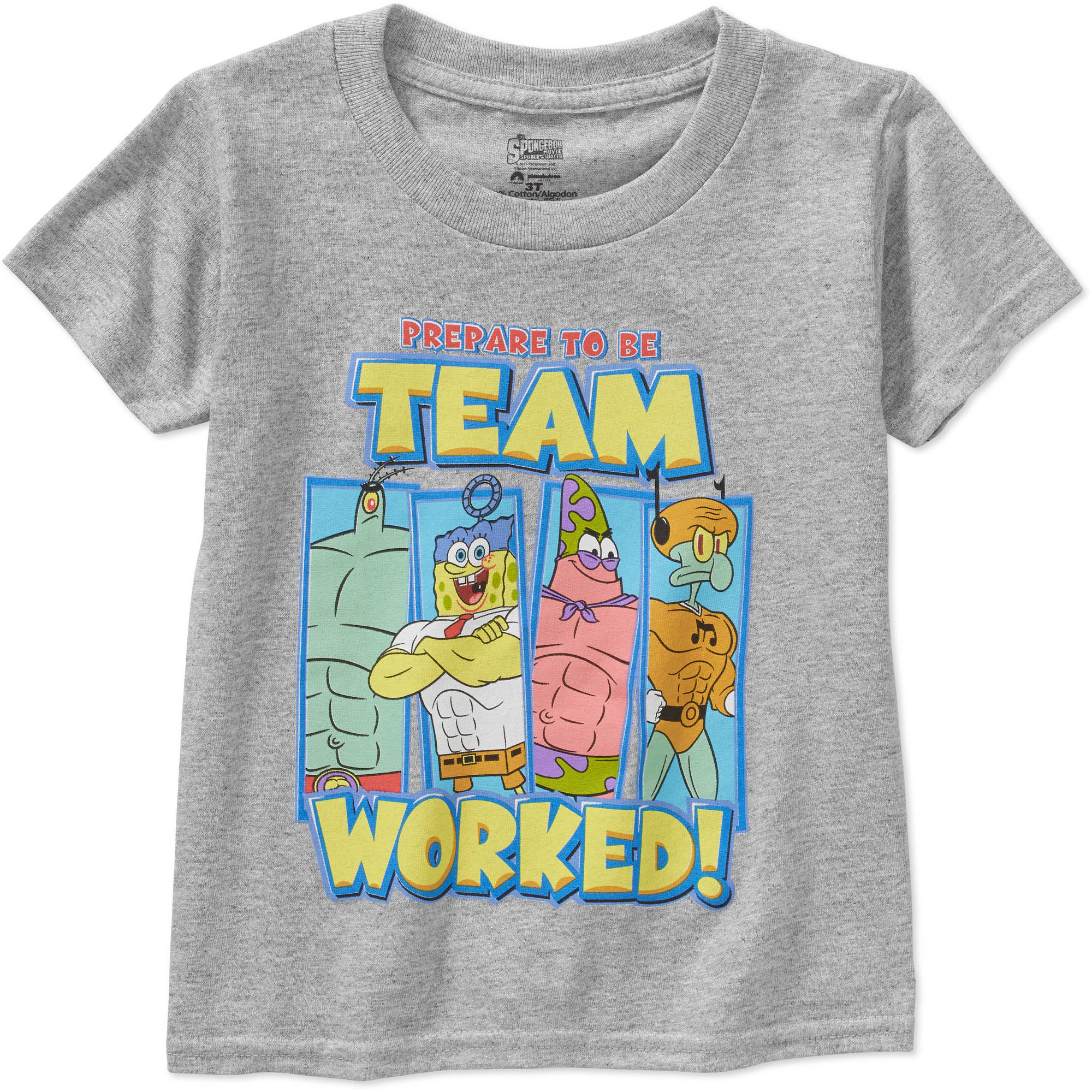 Nickelodeon Spongebob Team Worked Toddler Boy Short Sleeve Graphic Tee