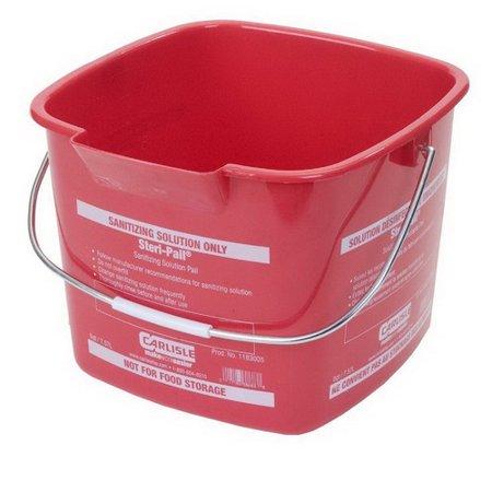Steri Pail (Carlisle Steri Pail Square Sanitizing Bucket Red, 8 qt., 9.5