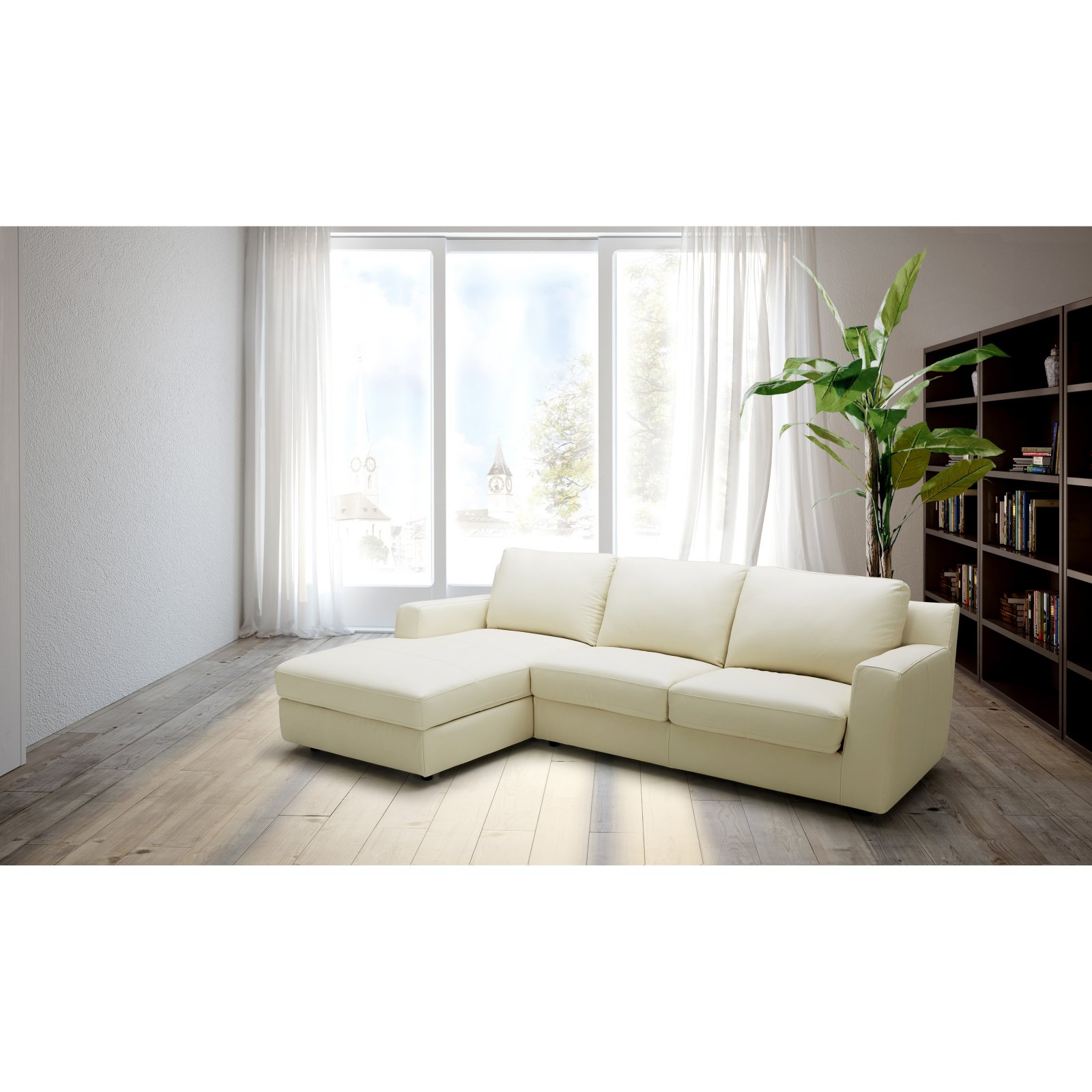 J&M Furniture Jenny Chaise Sectional Sofa