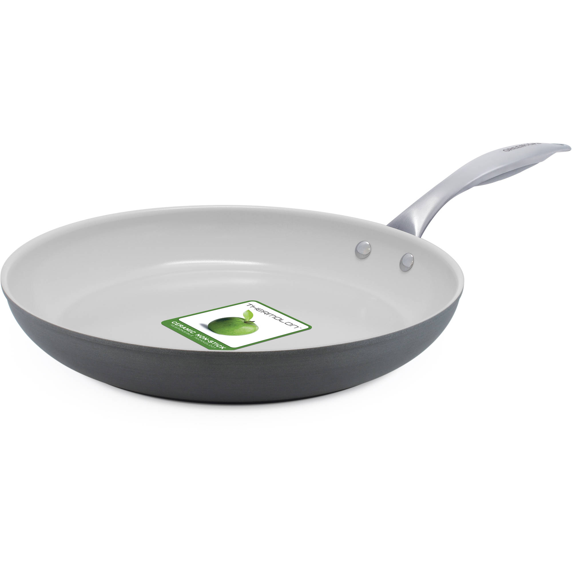 GreenLife Classic Hard Anodized Absolutely Toxin-Free Healthy Ceramic Non-Stick,12-Inch Frying Pan by The Cookware Company