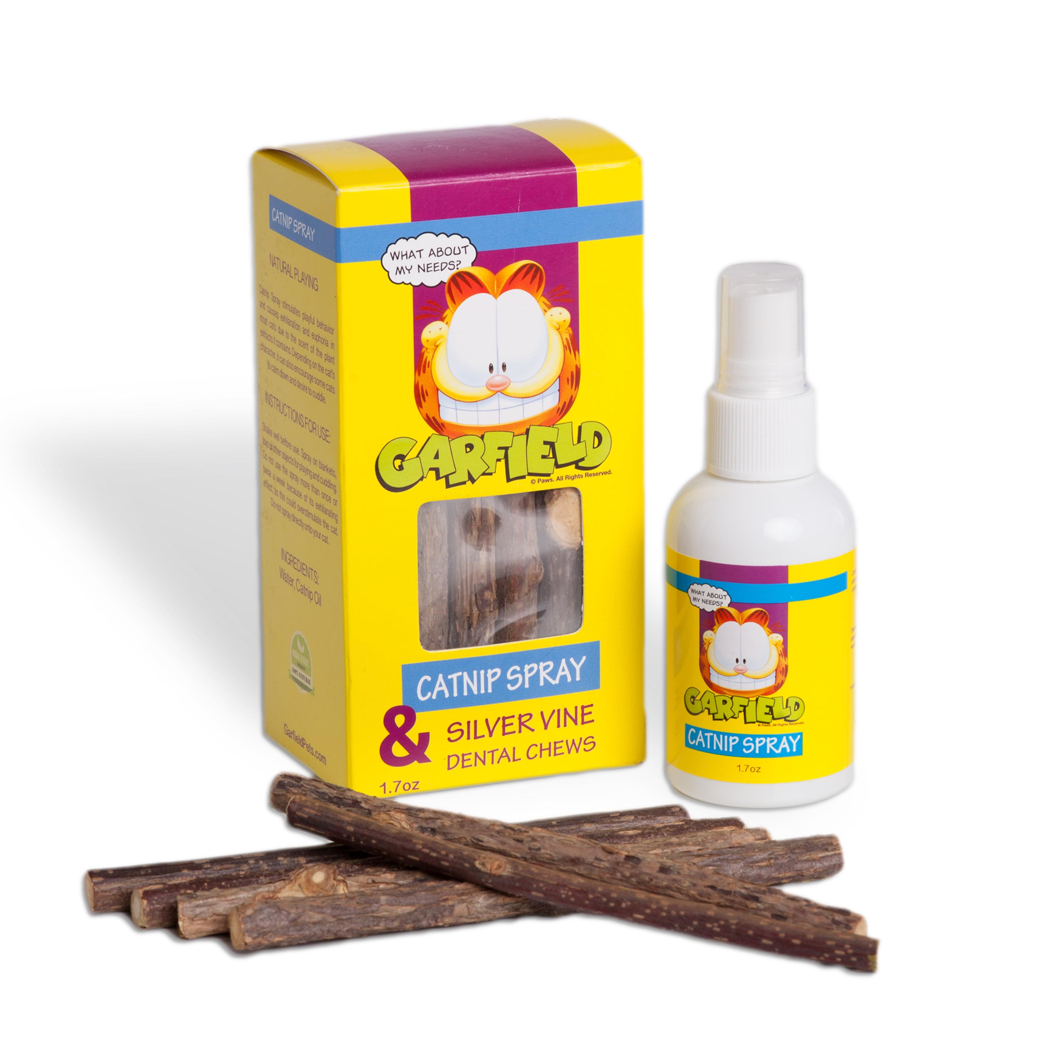 Garfield Catnip Spray and Silver Vine Sticks by