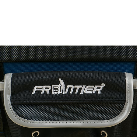 Frontier Professional 15 Pocket Soft Sided Tool Bag,12-inch W x 9.5-inch D x 9.5-inch H with 1.3-inch Deep Molded Rubber Bottom and Rain Cover